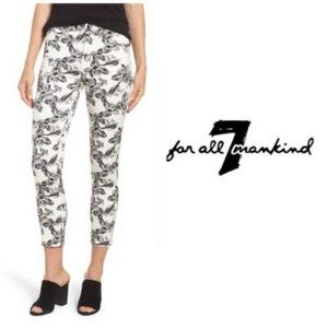 Jen7 by 7 For All Mankind Printed Crop Skinny Jean